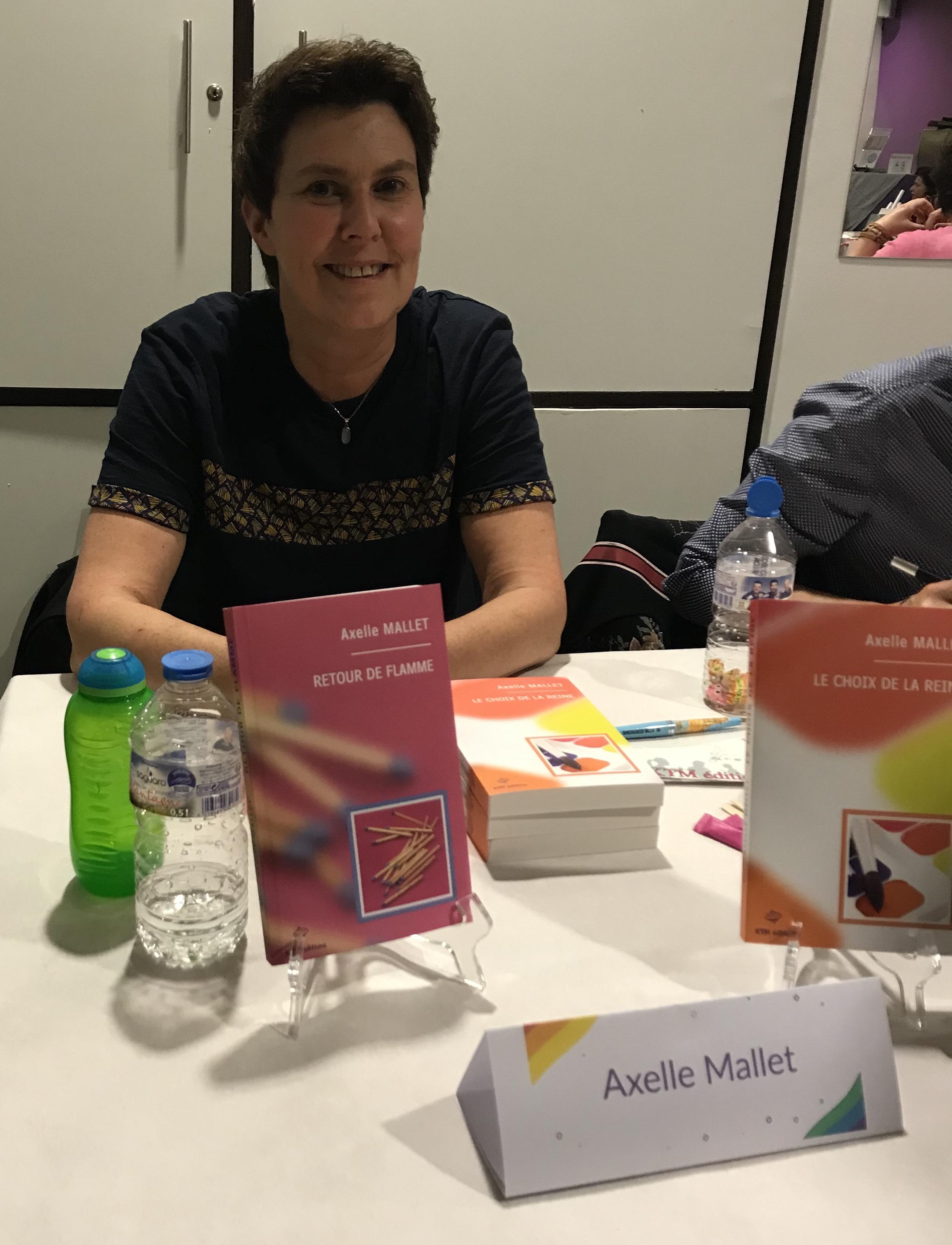 Axelle Mallet au F/F day 2019, les rencontres du livre lesbien